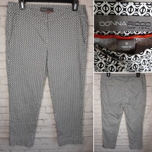 Donna Ricco ankle cropped pants size 8